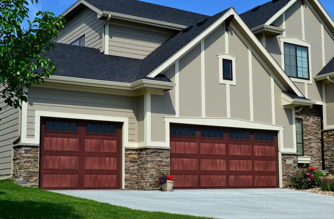 gray-home-with-brown-garage-door
