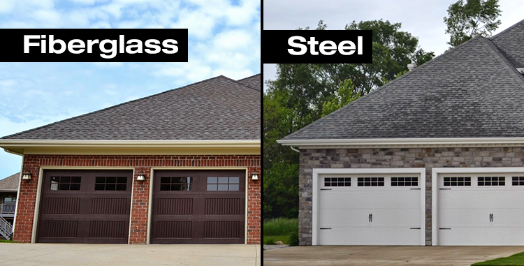 Garage Door Showdown Fiberglass Vs Steel, Fiberglass Or Steel Door